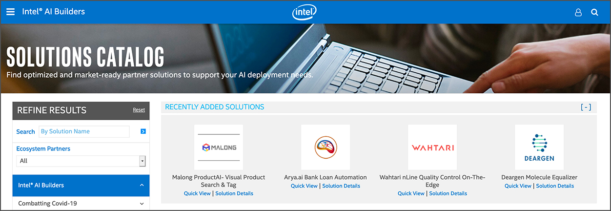 Intel® AI Builders Solutions Catalog